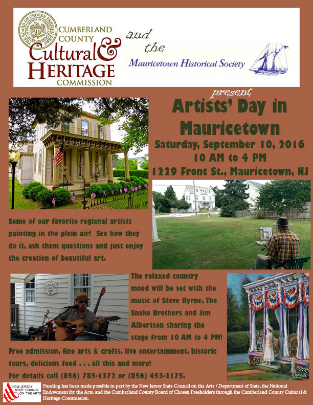 2016 Artists Day flier